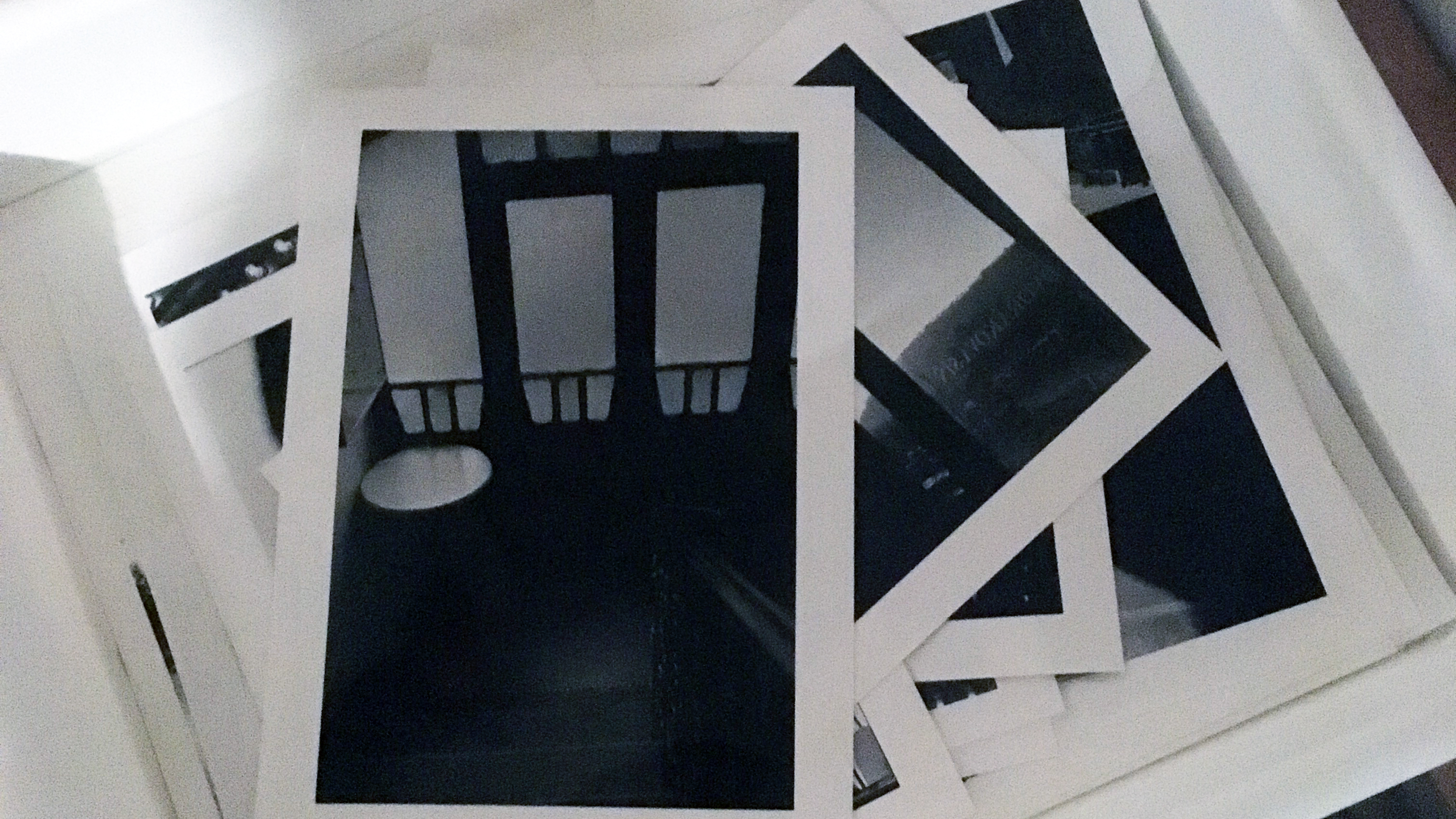 test prints during a darkroom session